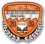 Aged Vintage 2009 Dated Car Show Exhibitor Pass Design Vinyl Car sticker decal  89x87mm
